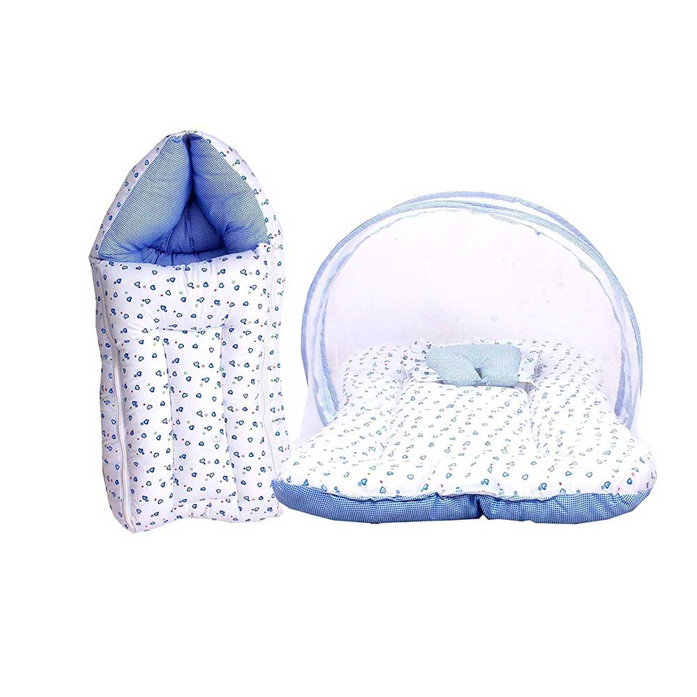 FARETO Baby Mattress with Mosquito Net & Sleeping Bag
