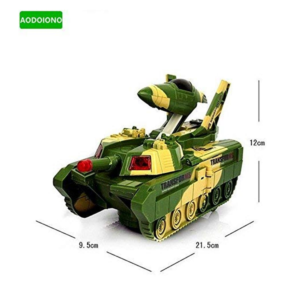 Fantasy Kids Electric Automatic Deformation 2 in 1 Battery Operated Tank