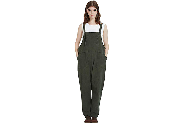 Gihuo Women's Casual Baggy Overalls Jumpsuit