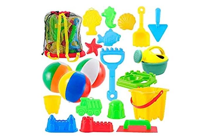JOYIN 20 Pieces Beach Sand Toys Set Models