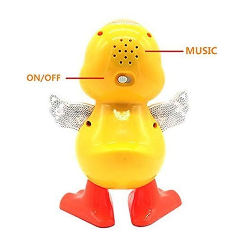 JVM Dancing Duck Toy with Music Flashing Light-3