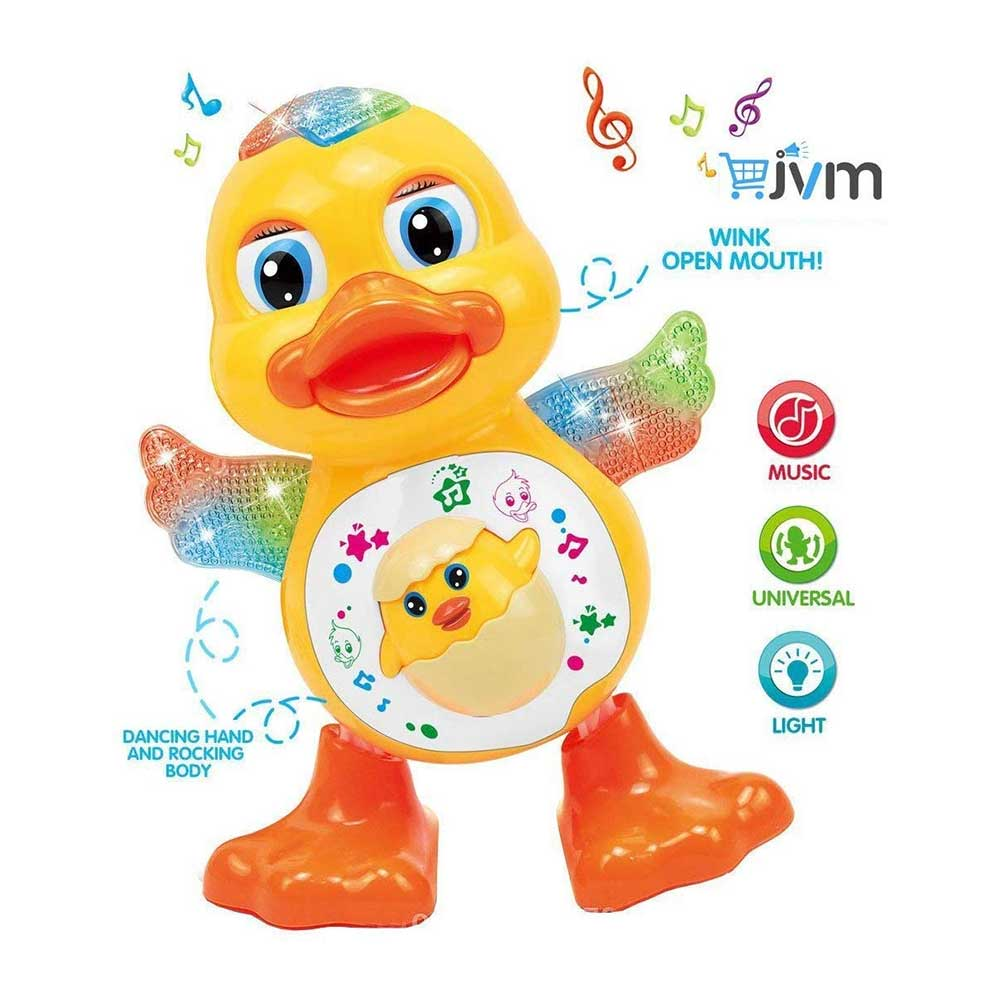 JVM Dancing Duck Toy with Music Flashing Light