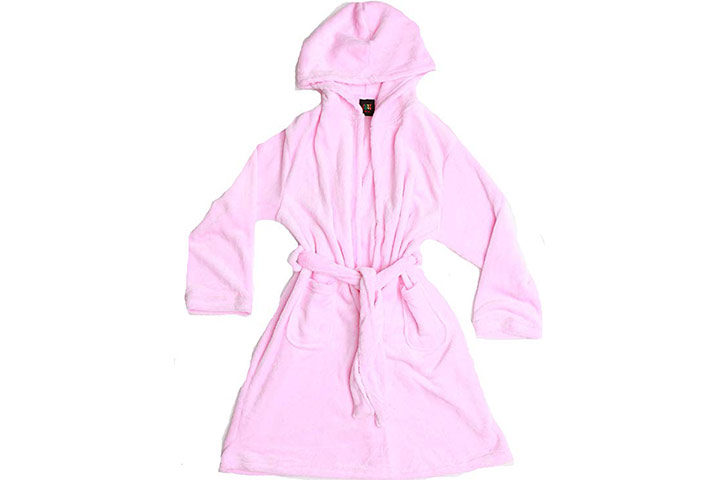 Just Love Hooded Plush Fleece Robe for Girls