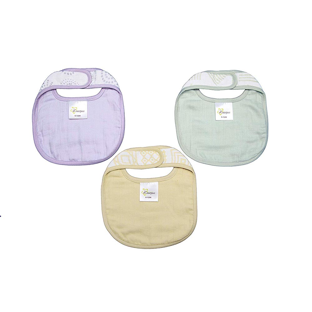 Kaarpas Organic Cotton Muslin Baby Bib