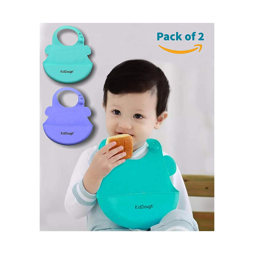 KidDough Waterproof Silicone Bib