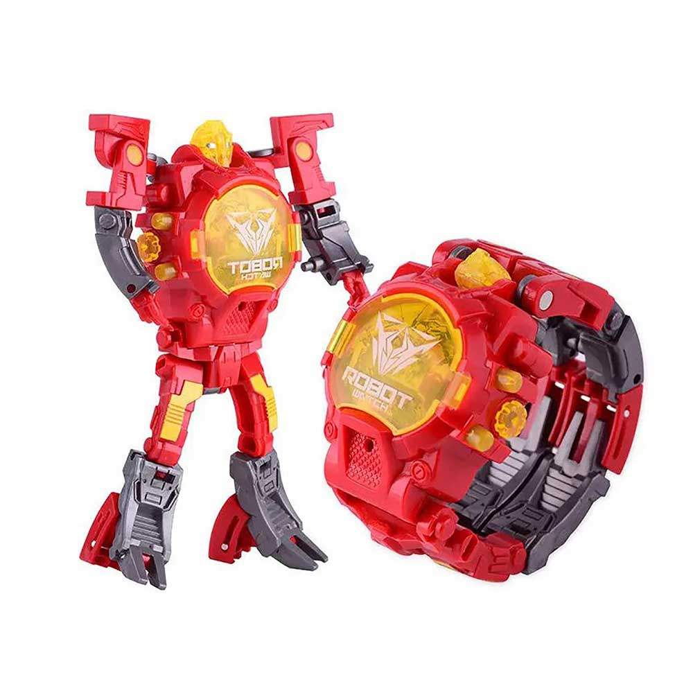 Kiditos Transforming Deformation Robot Toy Convert to Digital Watch for Kids