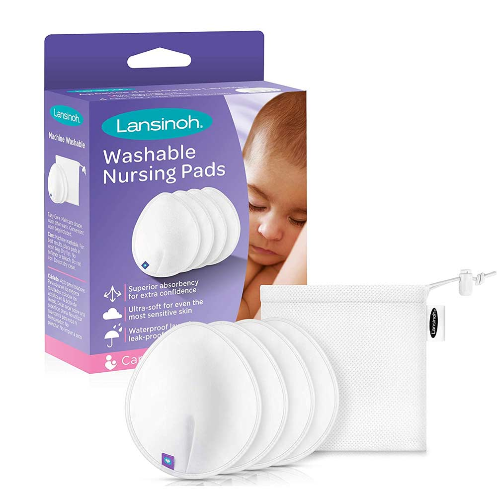 Lansinoh Washable Nursing Pads with Superior Absorbency and Ultra-Soft Comfort