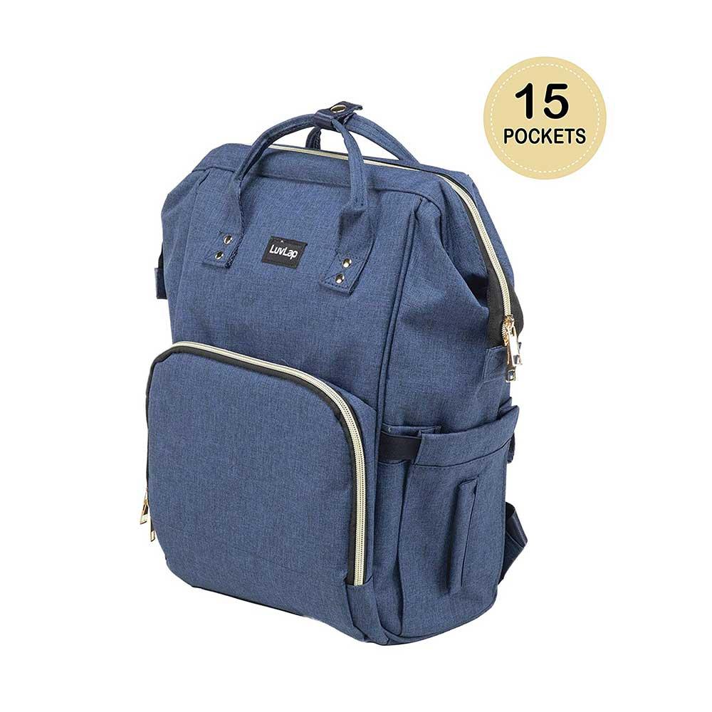 LuvLap Lily Travel Waterproof Diaper Bag-Backpack