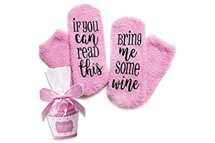 Luxury Wine Socks with Cupcake Gift Packaging