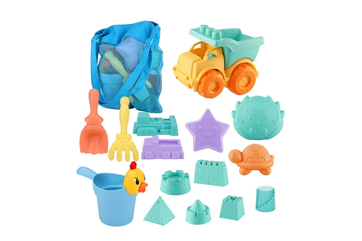 MINGPINHUIUS Kids Beach Toys Toddlers Beach Sand Toy Set