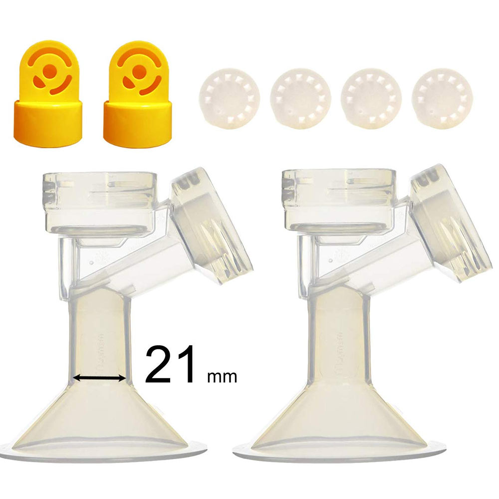 Maymom One-Piece Small Breastshield with Valve and Membrane for Medela Breast Pumps