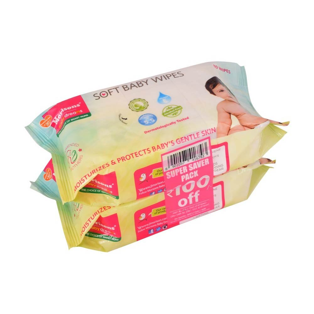 Morisons Baby Dreams Wipes