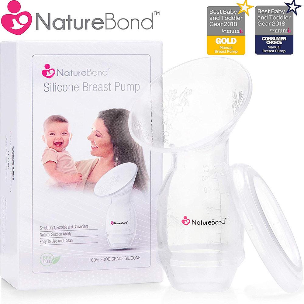 NatureBond BPA-free Silicone Breastfeeding Manual Breast Pump