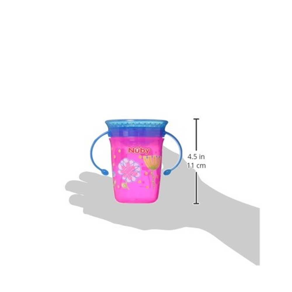Nuby 1pk No Spill 2-Handle 360 Degree Printed Wonder Cup-2