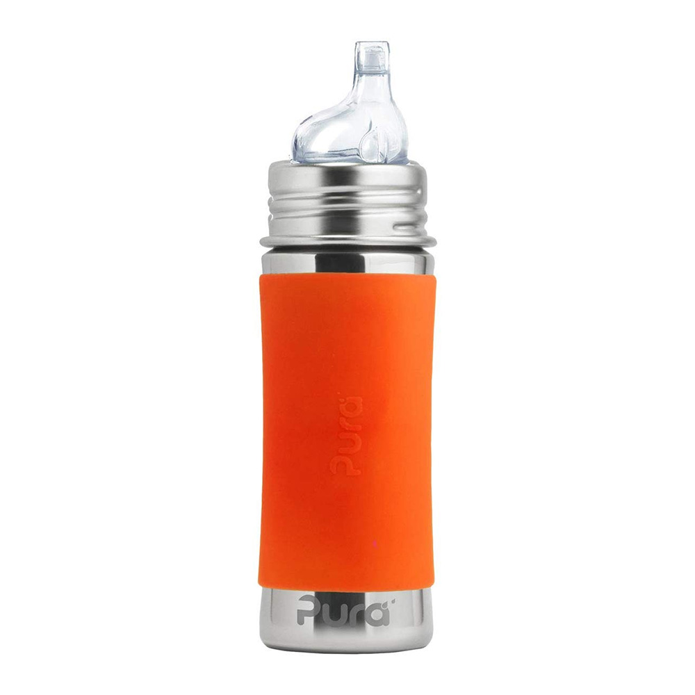 Pura Kiki Stainless Steel Bottle with Sippy Cup