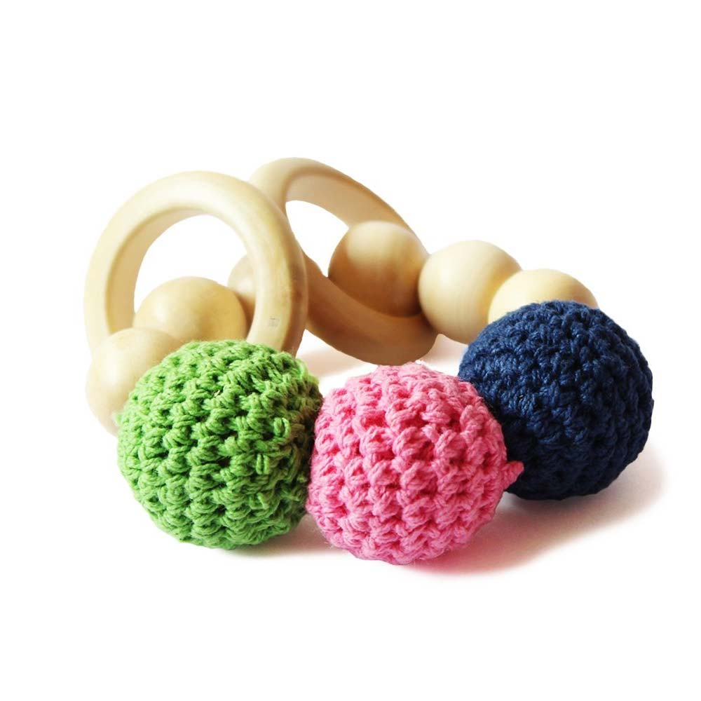 Shumee Wooden & Cloth Rattle Toy