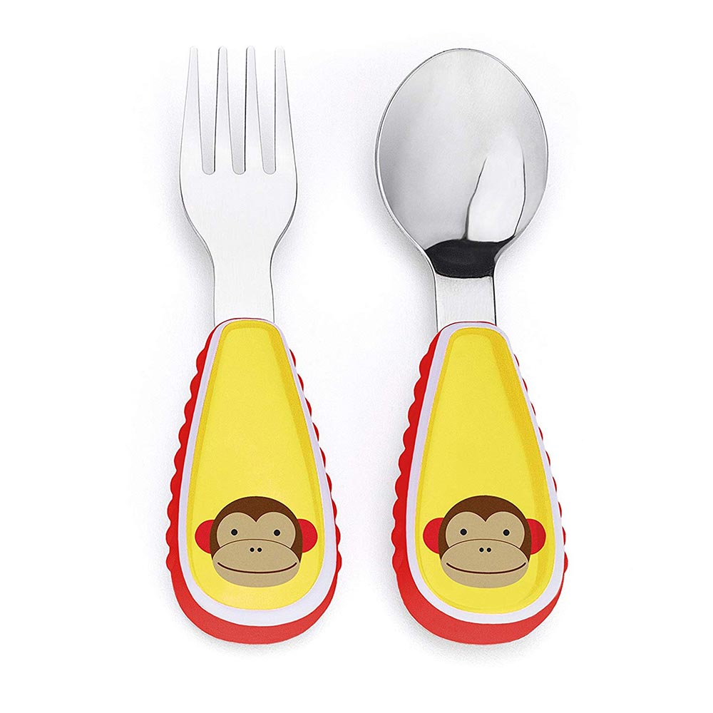 Skip Hop Baby Zoo Little Kid and Toddler Fork and Spoon Utensil