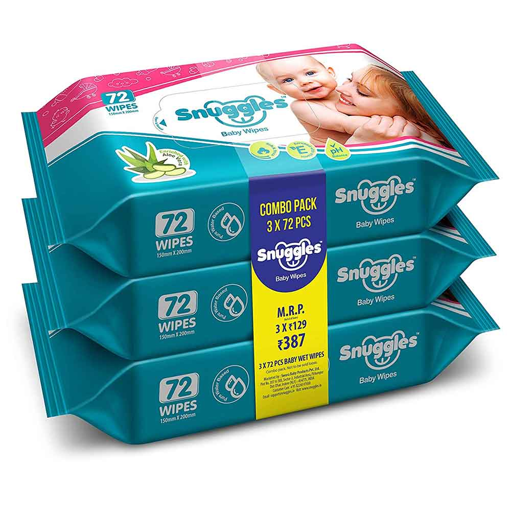 Snuggles Baby Wet Wipes with Aloe Vera