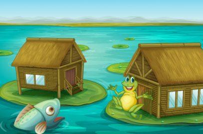 दो मछलियों और एक मेंढक की कहानी | Two Fishes And A Frog Story In Hindi
