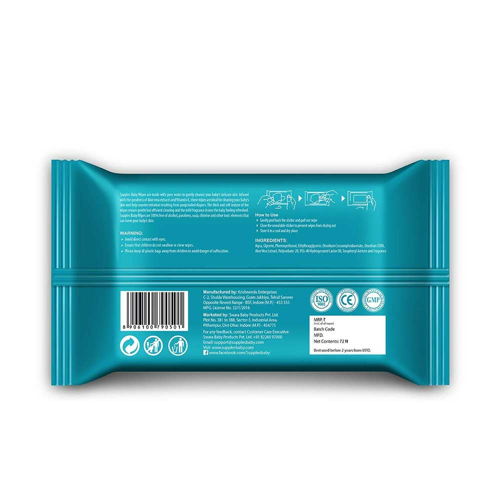 Supples Baby Wet Wipes with Aloe Vera and Vitamin E