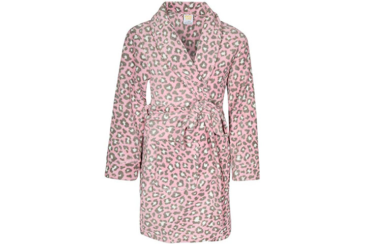 Sweet & Sassy Girls Coral Fleece Printed Robe