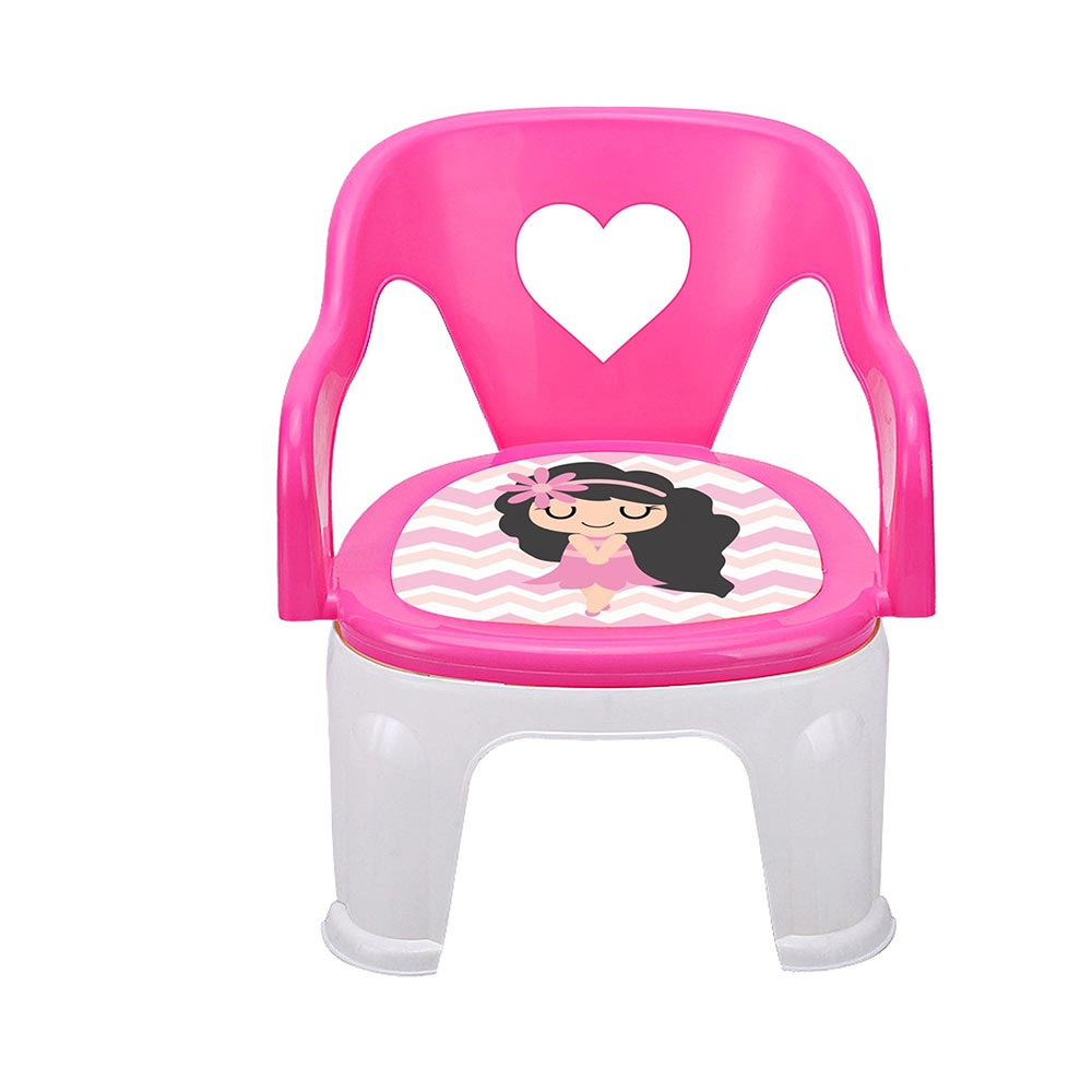 TIED RIBBONS Soft Cushion Plastic Chair for Kids
