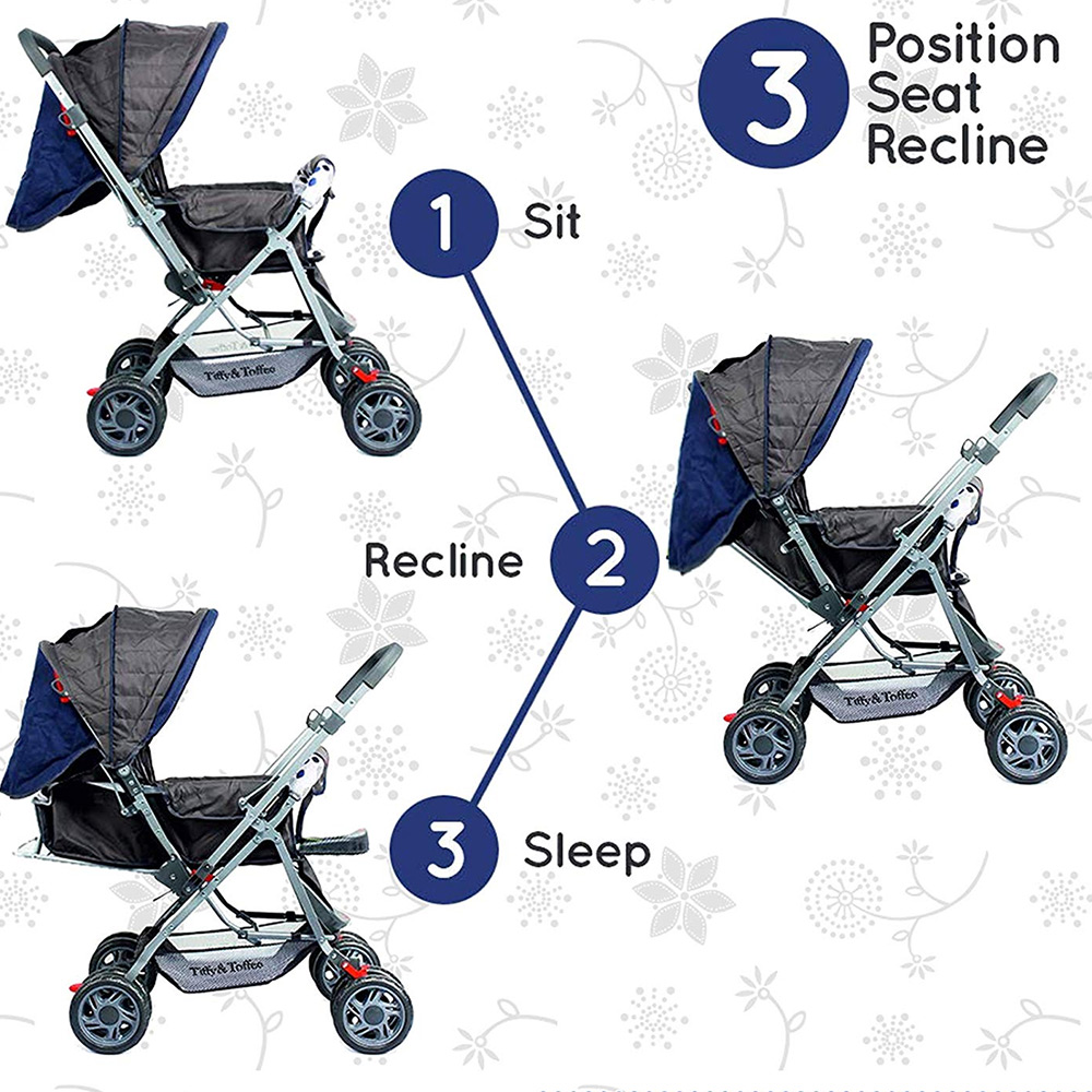 Tiffy & Toffee Smart and Safe Baby Stroller