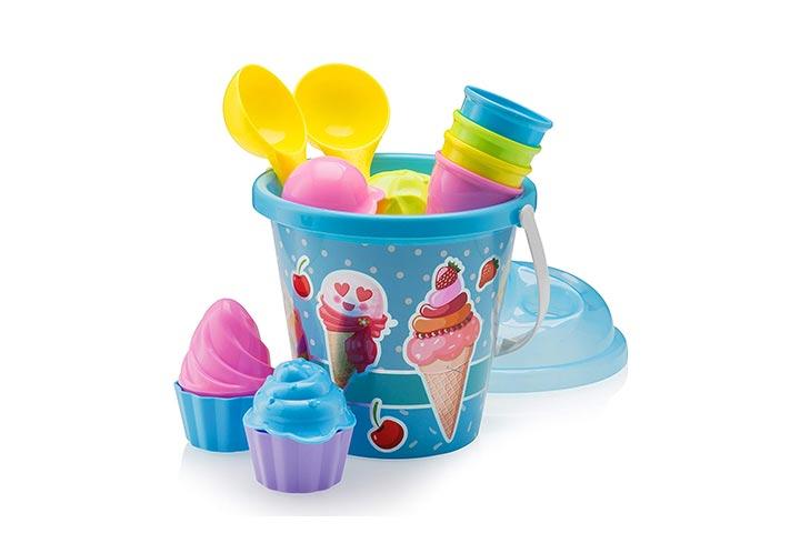 Top Race Beach Toys Ice Cream Mold Set