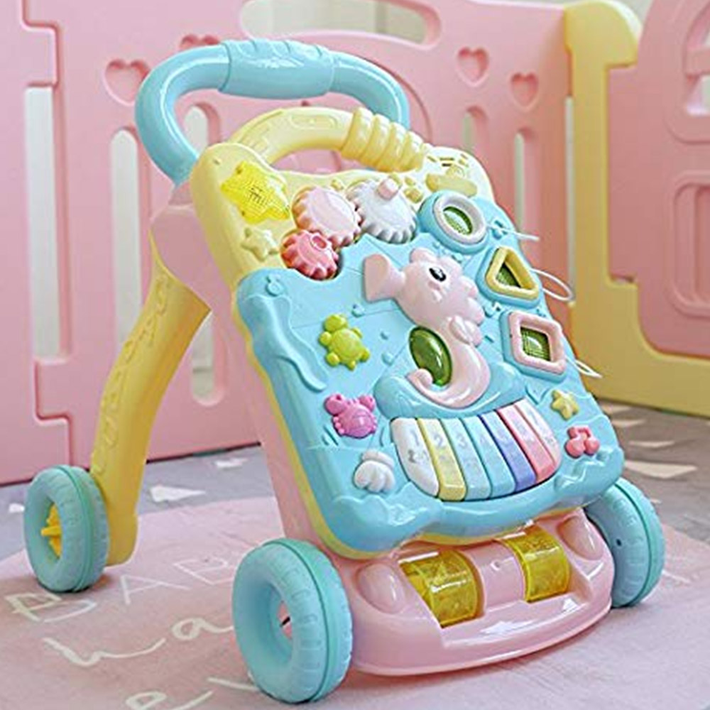 Toyshine Musical  Push and Pull Toy Activity Baby Walker