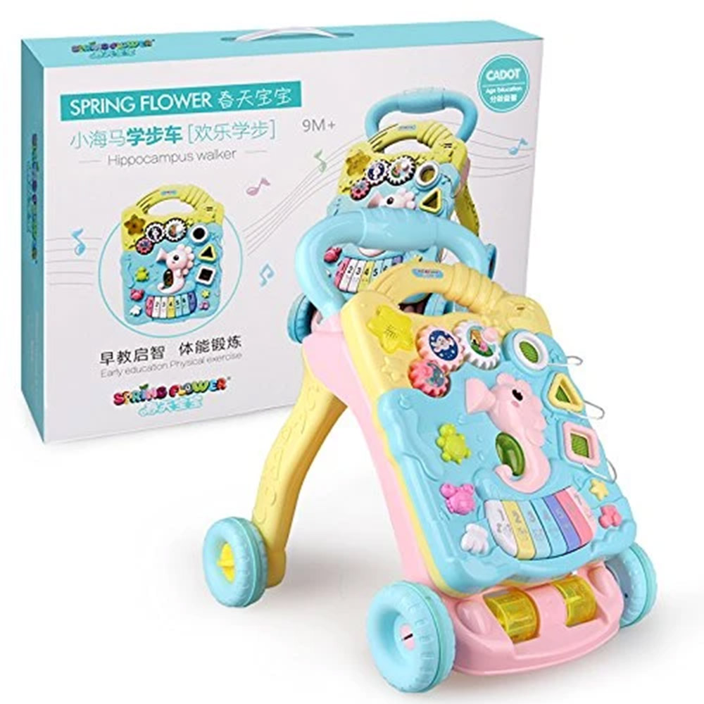 Toyshine Musical  Push and Pull Toy Activity Baby Walker-1