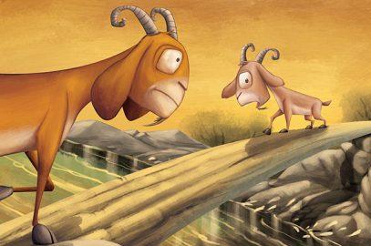 मूर्ख बकरी की कहानी | Two Goats Story In Hindi