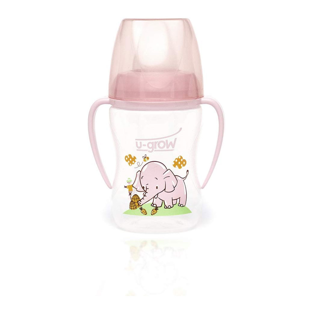 U-Grow Pink Training Cup with Silicone Spout