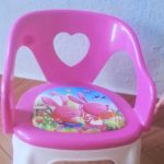 TIED RIBBONS Soft Cushion Plastic Chair for Kids-Children could fought for it in play time.-By rev