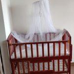 Babyhug Florence Wooden Cot Cum Rocker With Storage Space-wooden cot for babies-By vanajamk
