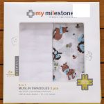My Milestones 3 in 1 Muslin Swaddle Wrapper Pack-3 in 1-By kalyanilkesavan
