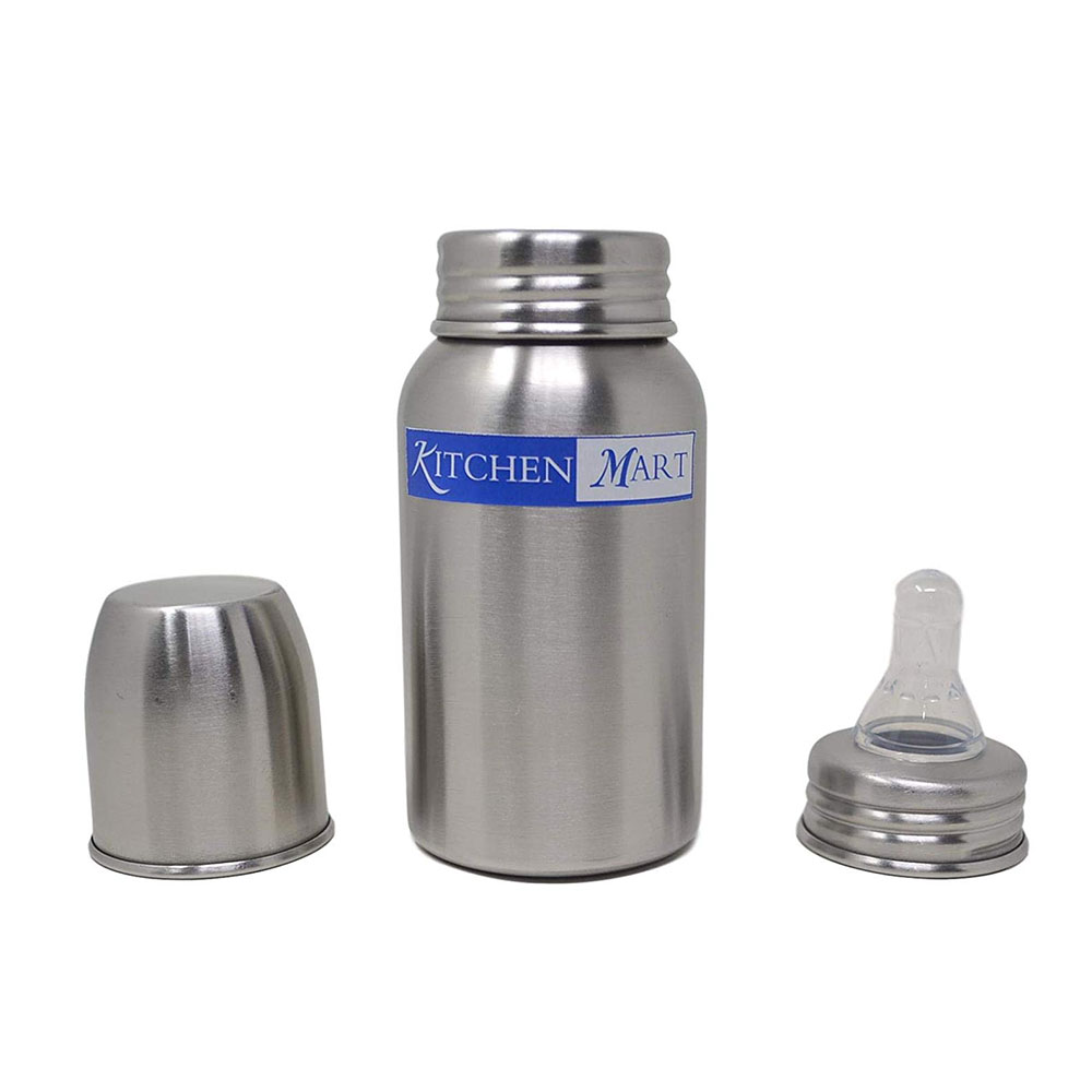 kitchen mart stainless steel feeding bottle