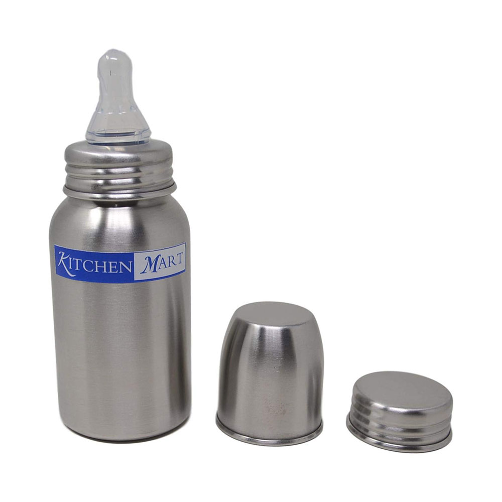 kitchen mart stainless steel feeding bottle-0