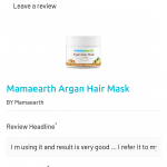Mamaearth Argan Hair Mask-All hair problems one solution-By kalyanisahu