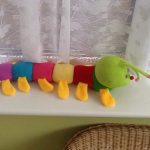 Ultra Caterpillar Soft Toy-Colourful caterpiller-By reshmashenoy