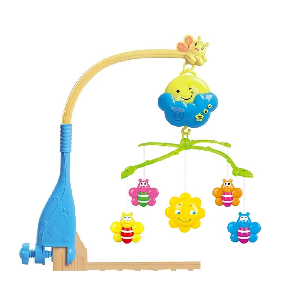 BabyGo Rotating Moon Musical Rattle Cot Mobile