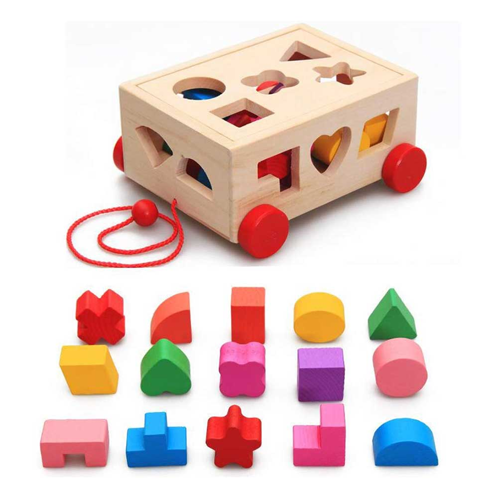 Baybee Wooden Push and Pull Puzzle Cube Wooden Toys