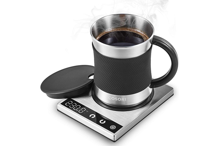 Cosori Coffee Mug Warmer & Mug Set