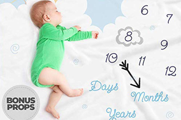 Double-Sided Monthly Baby Milestone Blanket