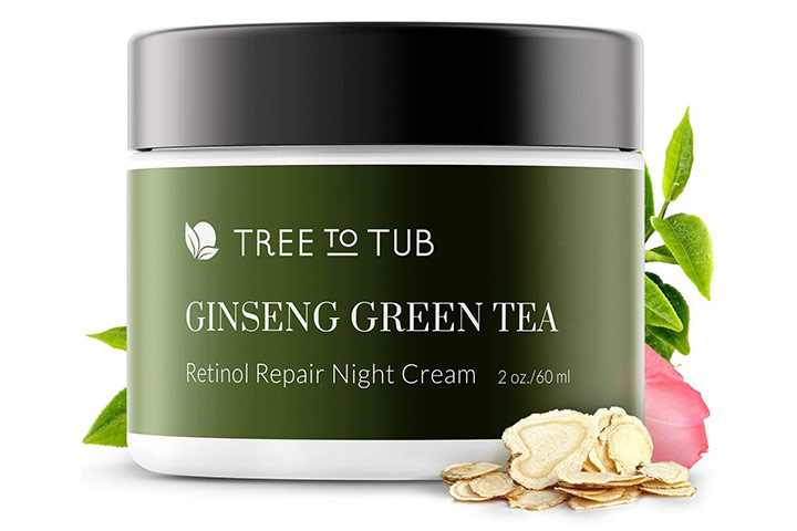 Ginseng Green Tea Retinol Sensitive Skin Night Cream