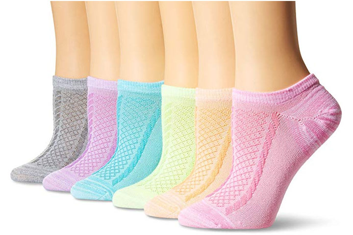 Hanes Women Invisible Comfort Texture Socks
