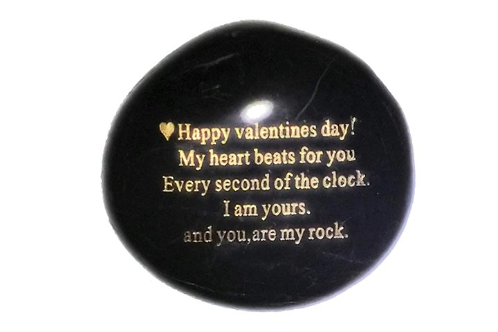 Happy Valentine's Day - Engraved Rock