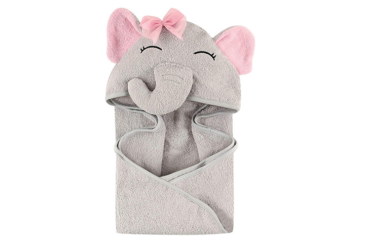 Hudson Baby Unisex Baby Animal Face Hooded Towel