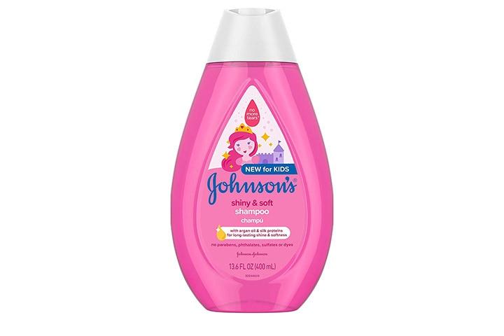 Johnson's shiny and soft shampoo