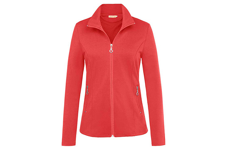 Kate Kasin Women's Stand Collar Sport Jacket
