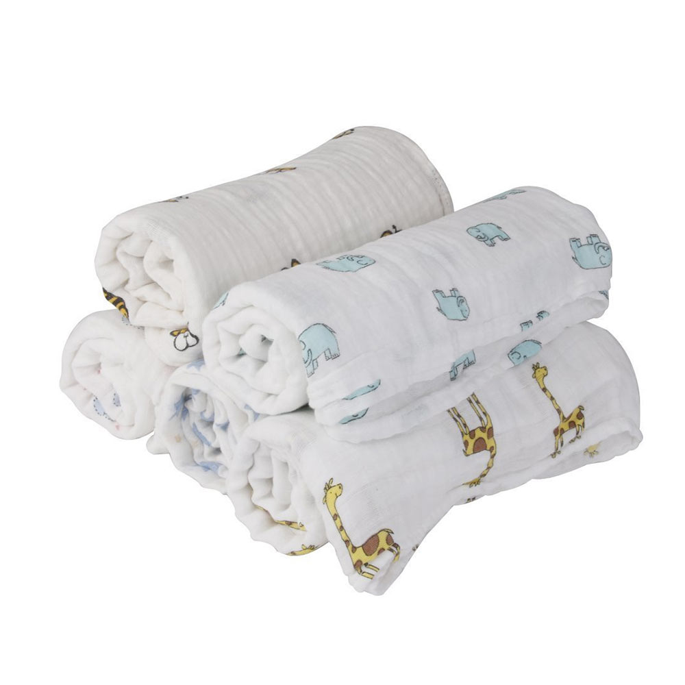 MOM'S HOME Organic Cotton Baby Muslin Swaddle